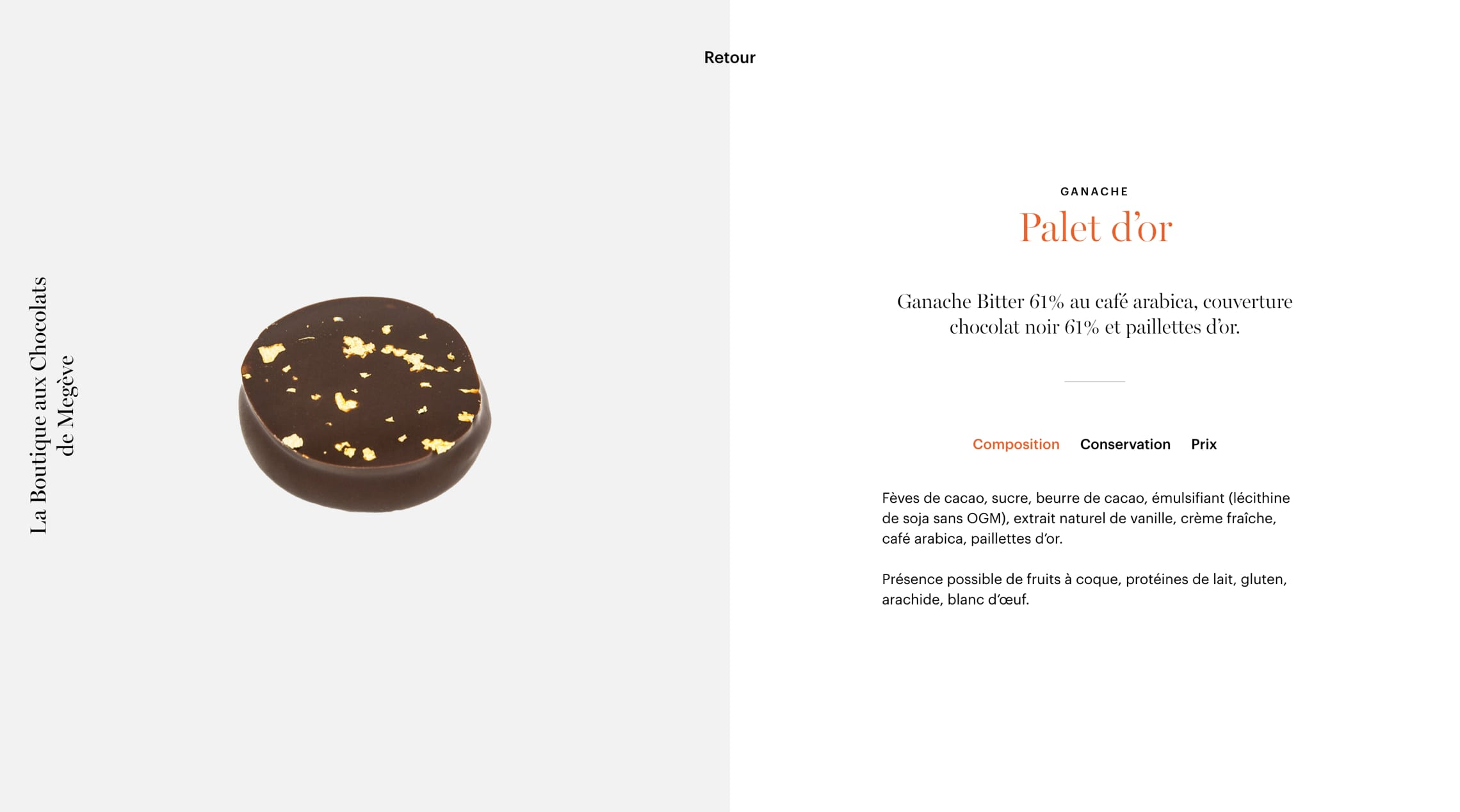 Chocolats de Megève